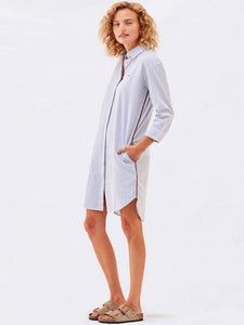 Pinstripe Shirt Dress