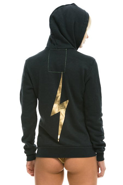 Bolt Hoodie in Charcoal/Gold, AVIATOR NATION - VALLEY TRIBECA