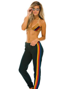 5 Stripe Women's Sweatpant, AVIATOR NATION - VALLEY TRIBECA