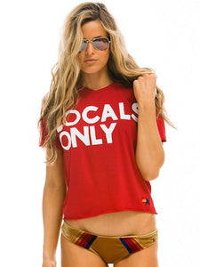 Locals Only BF Tee in Vintage Red