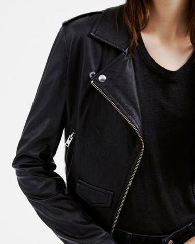 IRO Ashville Leather Jacket - VALLEY TRIBECA