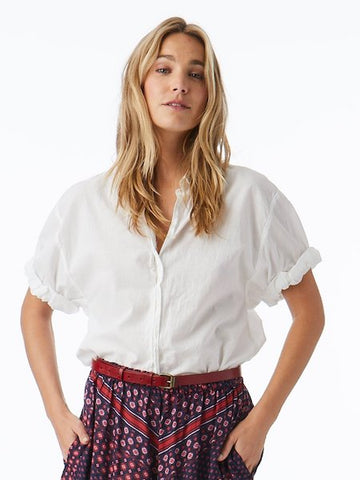 Channing Shirt in White, XIRENA - VALLEY TRIBECA