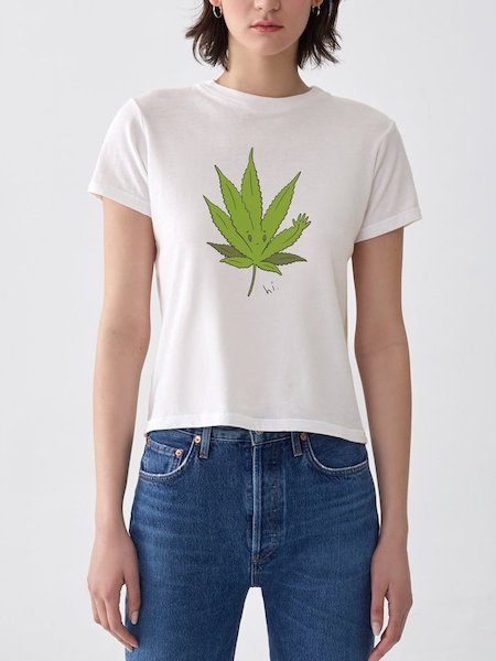 Baby Tee in Cannabis, AGOLDE - VALLEY TRIBECA