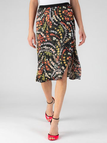 Silk Crepe Skirt Multifloral, ATM - VALLEY TRIBECA