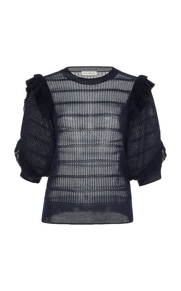 Aveline Top in Midnight, ULLA JOHNSON - VALLEY TRIBECA