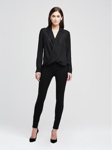 Marguerite High Rise Skinny in Noir, L'AGENCE - VALLEY TRIBECA