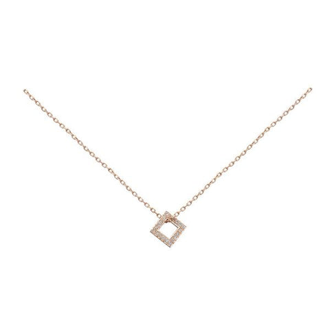 BIANCA PRATT DIAMOND SQUARE NECKLACE