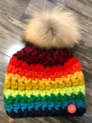 Stripe Beanie Deep-Rainbow, MISCHA LAMPERT - VALLEY TRIBECA