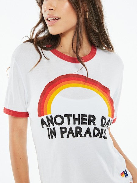 Paradise Rainbow- BF Ringer Tee, AVIATOR NATION - VALLEY TRIBECA