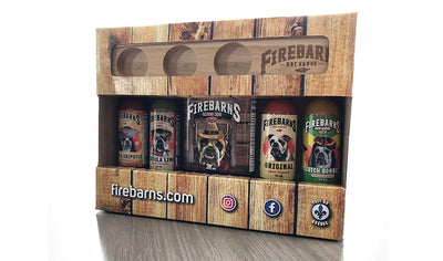 Firebarns hot sauces gift box by Sauces Piquantes Firebarns