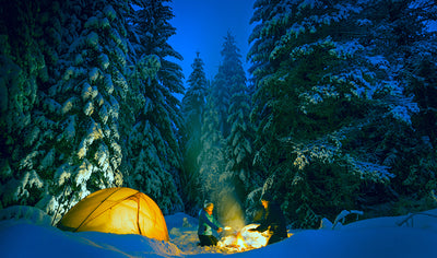 Winter camping in Jacques-Cartier National Park by Quatre Natures