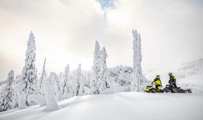 Off-trail snowmobile adventure with guide for two by Stadacona Aventures