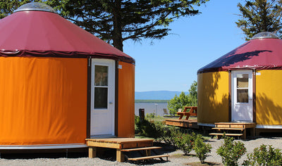 Stay in Yurt with view of the St. Lawrence River by Camping Pointe-aux-Oies