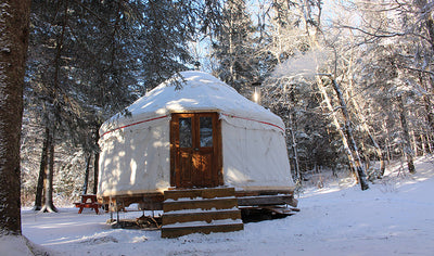 Austrian yurt and sledge by Domaine Du Radar