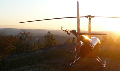 Helicopter and Scandinavian Baths by Héli-Tremblant