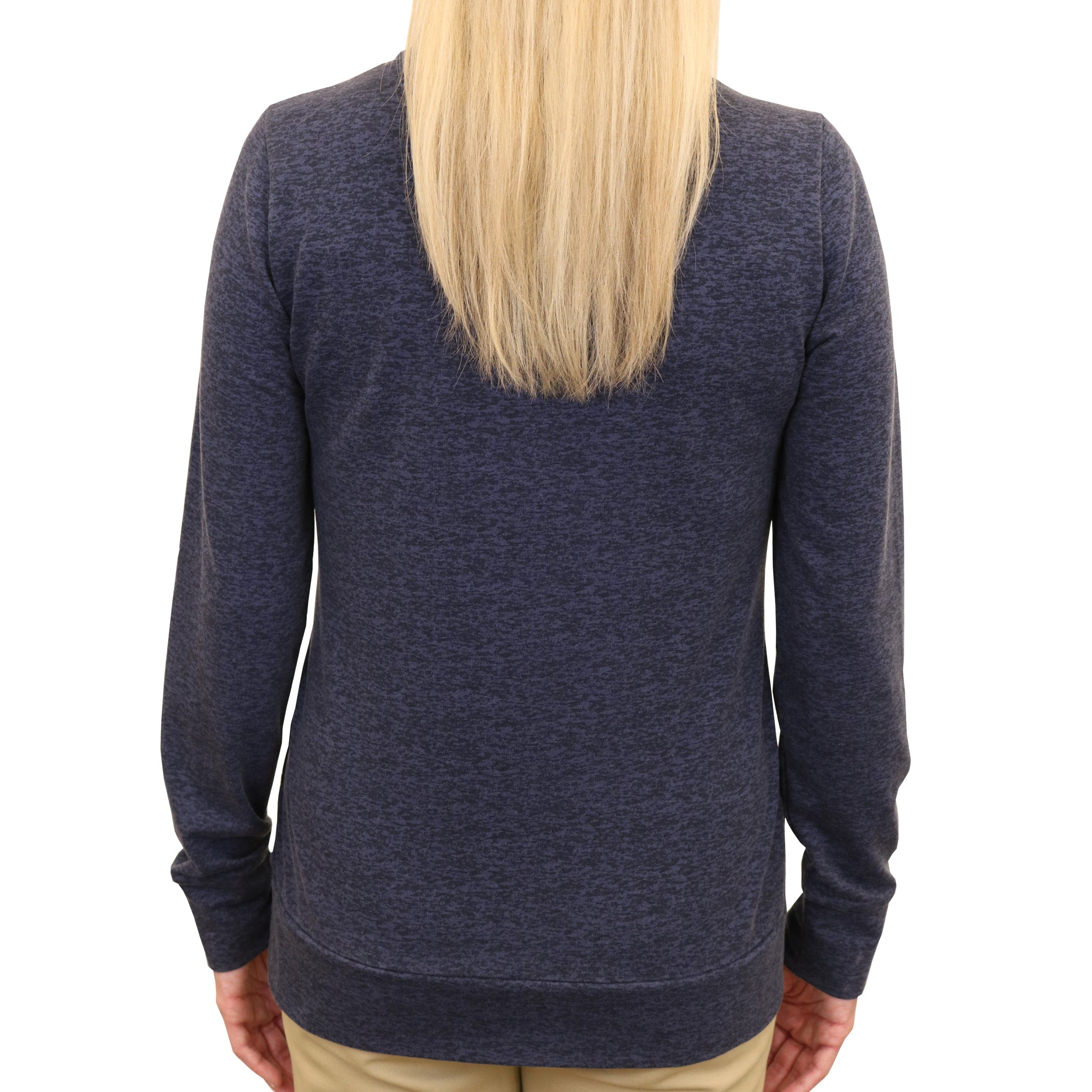 Cowl Neck Jersey Knit Fleece Pullover