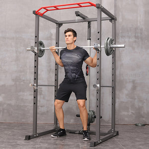 POWER RACK + SINGLE PULLEY PLATE LOADING