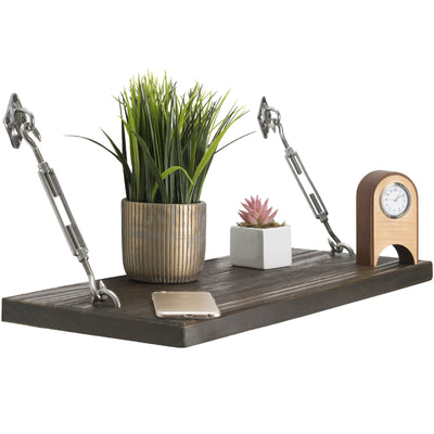 Modern Floating Rustic Wood Shelf Floating Shelf with Turnbuckle Bracket