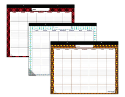 "Undated Desk Pad 22""x17"" (2-Pack, Assorted Patterns)"