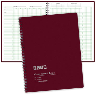 Class Record Book with  9-10 Weeks & 35 Names (R1035)
