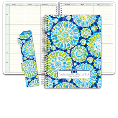 HARDCOVER Combination Plan + Record Book (Flowers)