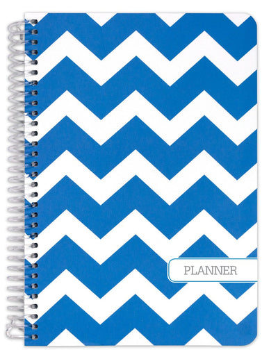 "Fashion UNDATED Planner Set 5.5"" x 8"" (Blue Chevron)"