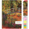 "HARDCOVER 2021 Planner - MONET BRIDGE  (Medium 5.5"" x 8"")"