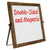 "11""x11"" Double Sided Whiteboard (Pack of 12)"