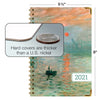 "HARDCOVER 2021 Planner - MONET OCEAN (Nov 2020 - Dec 2021)(Medium 5.5"" x 8"")"
