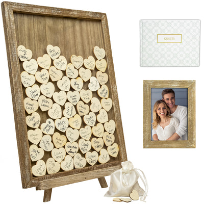 Wedding Guest Drop Top Frame Wedding Guest Book Alternaitve
