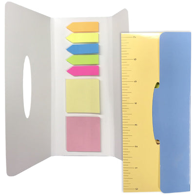 Sticky Pad Note Pad Set: Includes 2 Sticky Note Pads and 5 Colorful Index Tabs