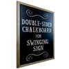 "Double Sided Swinging Rustic Chalkboard - 21"" x 30"" - Magnetic Sign for Restaurants and Businesses (Chalkboard Component Only)"
