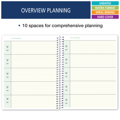 Combination Plan and Record Book - 8 Period Teacher Lesson Planner (PR8-1035 )