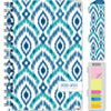 "HARDCOVER Academic Year 2020-2021 Planner 5.5""x8"" (Blue Ikat)"