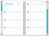 HARDCOVER Calendar Year 2021 Planner: (November 2020 Through December 2021) 5.5x8 Daily Weekly Monthly Planner Yearly Agenda. Bonus Bookmark, Pocket Folder and Sticky Note Set (Pink Marble Triangles)
