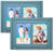 Rustic Shabby Chic Turquoise Blue Picture Frame Holds Two 5x7 Photos (Pack of 2)