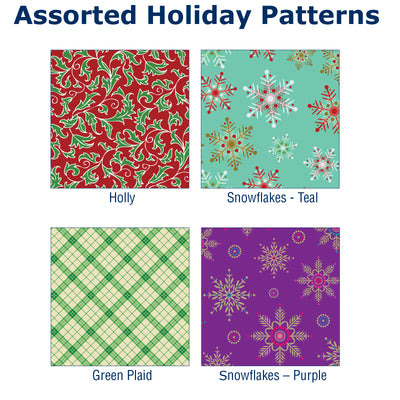 Gift Shipping Boxes (Pack of 12, Holiday Patterns, Large)