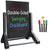 Swinging Chalkboard Sidewalk Sign: 24x36 Black Sign Board & 4 Liquid Chalkboard