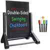 24x36 Swinging Chalkboard Sidewalk Sign - Black (Pack of 5)