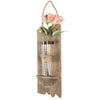 "Rustic Wall Hanging Flower Vase: 13""x4.5"" Hanging Glass Flower Planter Vase"