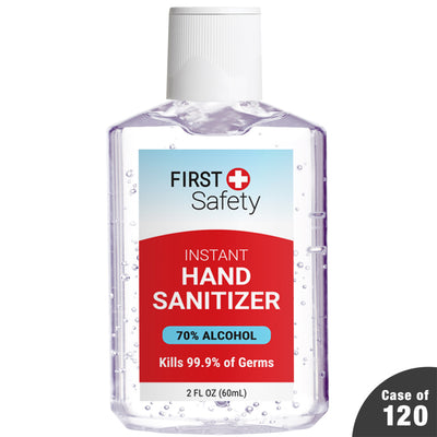 Case of 120 First Safety 2 oz Hand Sanitizer Gel with Cap