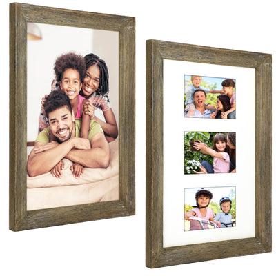 Rustic Barnwood 11x17 Picture Frame Set. Fits 11x17 (Pack of 2)
