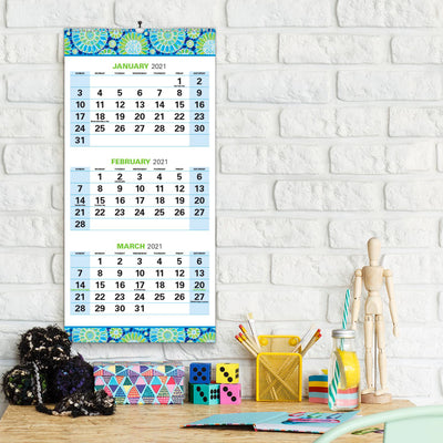 "2020 - 2021 15 Month Wall Calendar - Vertical 3 Month Display (Nov 2020 to Jan 2022) (13"" x 27"")"