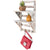 Excello Global Products 2-Tier Rustic Whitewashed Mounted Wood Wall Shelf