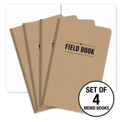 "Field Notebook - 5""x8"" - Kraft - Pack of 4"