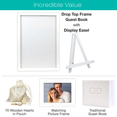 Wedding Guest Drop Top Frame Wedding Guest Book Alternative (RUSTIC BROWN WOOD) - EGP-HD-0168