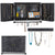 Rustic Wall Mounted Jewelry Organizer with Wooden Barndoor Decor (Brown)