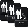Restroom Sign with Braille (ADA Compliant), 6x9,  Men's Handicap - Pack of 3