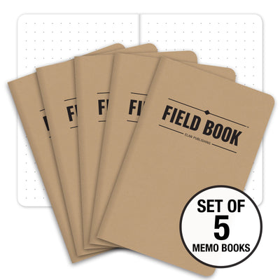 "Field Notebook - 3.5""x5.5"" - Kraft - Graph - Pack of 5"