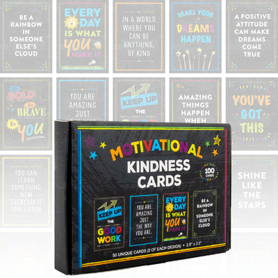 Motivational Cards: Set of 100 Inspirational, Kindness, Motivational and Quote Cards. Business Card Size